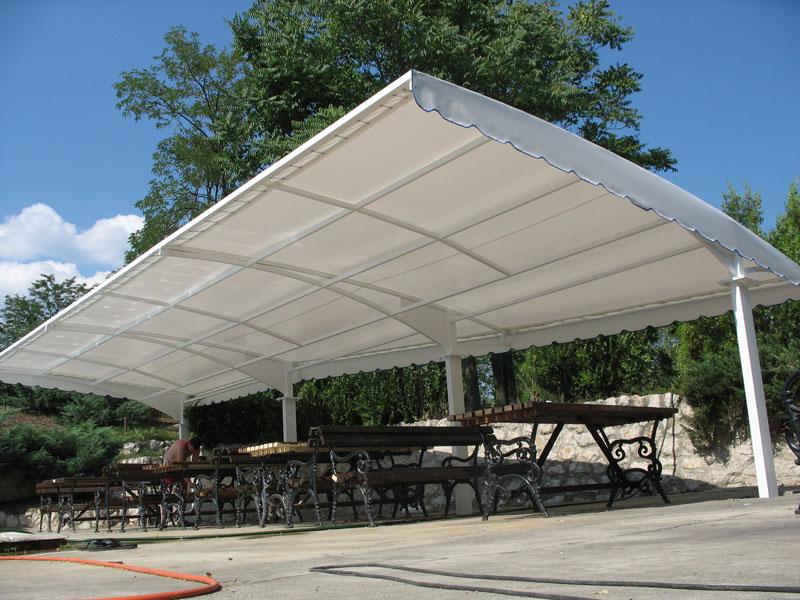 Letnja fiksna tenda za kafice restorane baste