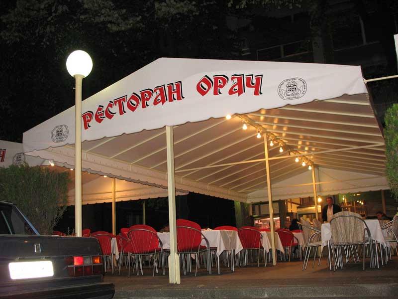 Restoran Orac u Beogradu tenda Mimax