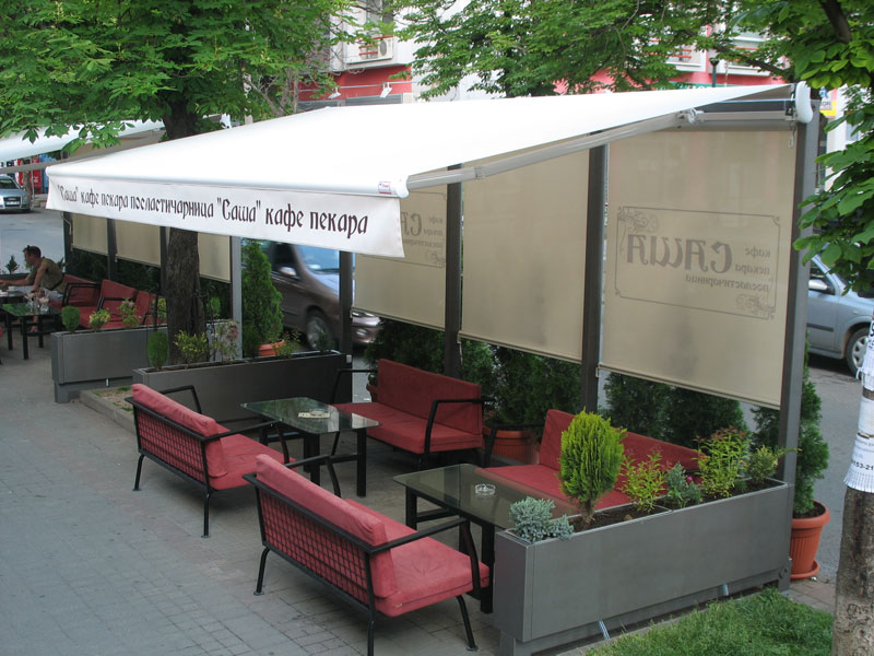 Tende i rolo zavesa Kafe Pekara Sasa Beograd