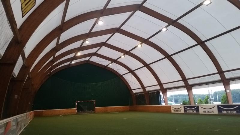 Izrada sportske balon hale drvena konstrukcija